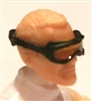 "Headgear: Standard Goggles BLACK Version with YELLOW Tint Lenses   - 1:18 Scale Modular MTF Accessory for 3-3/4"" Action Figures"
