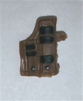 "Pistol Holster: Large Right Handed with Loop BROWN Version - 1:18 Scale Modular MTF Accessory for 3-3/4"" Action Figures"