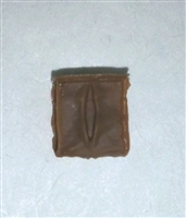 "Ammo Pouch: Empty BROWN Version - 1:18 Scale Modular MTF Accessory for 3-3/4"" Action Figures"