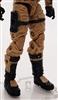 "Male Legs: BROWN and BLACK Cloth Legs (NO Armor) -  Right AND Left Pair-NO WAIST-LEGS ONLY  - 1:18 Scale MTF Accessory for 3-3/4"" Action Figures"