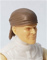 "Headgear: ""Bandana"" Head Cover BROWN Version - 1:18 Scale Modular MTF Accessory for 3-3/4"" Action Figures"