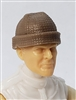 "Headgear: Knit Cap ""Ski Cap"" BROWN Version - 1:18 Scale Modular MTF Accessory for 3-3/4"" Action Figures"