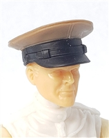 "Headgear: Officer Cap ""Dress Hat"" BROWN Version - 1:18 Scale Modular MTF Accessory for 3-3/4"" Action Figures"