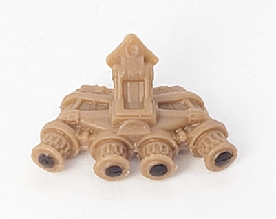 "Headgear: QUAD NVG Night Vision Goggles BROWN Version - 1:18 Scale Modular MTF Accessory for 3-3/4"" Action Figures"
