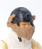 "Headgear: Armor Face Shield for Helmet BROWN Version - 1:18 Scale Modular MTF Accessory for 3-3/4"" Action Figures"
