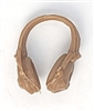 "Headgear: Radio Headset Headphones BROWN Version - 1:18 Scale Modular MTF Accessory for 3-3/4"" Action Figures"