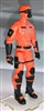 "MTF Male Trooper with Masked Goggles & Breather Head ORANGE ""Hazard-Ops"" Version BASIC - 1:18 Scale Marauder Task Force Action Figure"