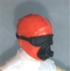 "Male Head: Mask with Goggles & Breather ORANGE Version - 1:18 Scale MTF Accessory for 3-3/4"" Action Figures"