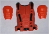 "Male Vest: Armor Type ORANGE Version - 1:18 Scale Modular MTF Accessory for 3-3/4"" Action Figures"