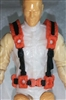 "Male Vest: Harness Rig ORANGE Version - 1:18 Scale Modular MTF Accessory for 3-3/4"" Action Figures"