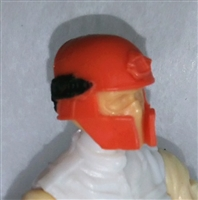 "Headgear: Tactical Helmet ORANGE Version - 1:18 Scale Modular MTF Accessory for 3-3/4"" Action Figures"