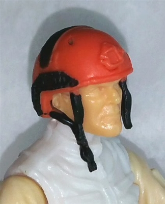 "Headgear: Half-Shell Helmet ORANGE Version - 1:18 Scale Modular MTF Accessory for 3-3/4"" Action Figures"