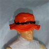 "Headgear: Boonie Hat ORANGE Version - 1:18 Scale Modular MTF Accessory for 3-3/4"" Action Figures"