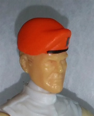 "Headgear: Beret ORANGE Version - 1:18 Scale Modular MTF Accessory for 3-3/4"" Action Figures"