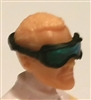 "Headgear: Standard Goggles BLACK Version with BLUE Tint Lenses   - 1:18 Scale Modular MTF Accessory for 3-3/4"" Action Figures"