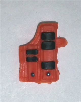 "Pistol Holster: Large Right Handed with Loop ORANGE Version - 1:18 Scale Modular MTF Accessory for 3-3/4"" Action Figures"