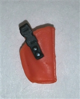 "Pistol Holster: Small  Right Handed ORANGE Version - 1:18 Scale Modular MTF Accessory for 3-3/4"" Action Figures"