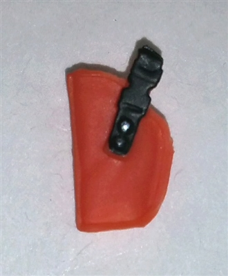 "Pistol Holster: Small Left Handed ORANGE Version - 1:18 Scale Modular MTF Accessory for 3-3/4"" Action Figures"