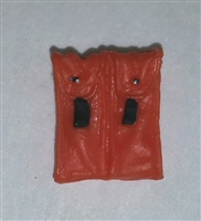 "Ammo Pouch: Double Magazine ORANGE Version - 1:18 Scale Modular MTF Accessory for 3-3/4"" Action Figures"