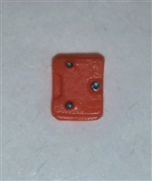 "Armor Panel: Small Size ORANGE Version - 1:18 Scale Modular MTF Accessory for 3-3/4"" Action Figures"