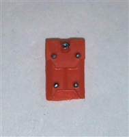 "Armor Panel: Large Size ORANGE Version - 1:18 Scale Modular MTF Accessory for 3-3/4"" Action Figures"