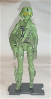 "1 (ONE) DELUXE MTF Female Valkyries LIGHT GREEN ""Flight-Ops"" Version - 1:18 Scale Marauder Task Force Action Figure"