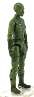"MTF Female Valkyries with Balaclava Head LIGHT GREEN with GREEN ""Flight-Ops"" Version BASIC - 1:18 Scale Marauder Task Force Action Figure"