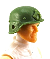 "Headgear: LWH Combat Helmet LIGHT GREEN Version - 1:18 Scale Modular MTF Accessory for 3-3/4"" Action Figures"