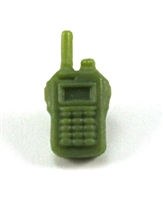 Radio Walkie Talkie: LIGHT GREEN Version - 1:18 Scale MTF Accessory for 3 3/4 Inch Action Figures