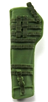 "Rifle Sheath Backpack: LIGHT GREEN & GREEN Version - 1:18 Scale Modular MTF Accessory for 3-3/4"" Action Figures"