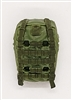 "Backpack: Modular Backpack LIGHT GREEN & GREEN Version - 1:18 Scale Modular MTF Accessory for 3-3/4"" Action Figures"