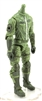 "MTF Male Trooper Body WITHOUT Head LIGHT GREEN ""Flight-Ops"" Armor Leg Version BASIC - 1:18 Scale Marauder Task Force Action Figure"