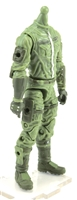 "MTF Male Trooper Body WITHOUT Head LIGHT GREEN ""Flight-Ops"" Cloth Legs (No Leg Armor)  - 1:18 Scale Marauder Task Force Action Figure"