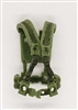 "Male Vest: Harness Rig LIGHT GREEN with GREEN Version - 1:18 Scale Modular MTF Accessory for 3-3/4"" Action Figures"
