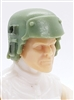 "Headgear: Armor Helmet LIGHT GREEN with GREEN Version - 1:18 Scale Modular MTF Accessory for 3-3/4"" Action Figures"