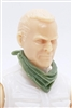 "Headgear: Standard Neck Scarf LIGHT GREEN Version - 1:18 Scale Modular MTF Accessory for 3-3/4"" Action Figures"