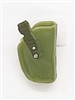 "Pistol Holster: Small  Right Handed LIGHT GREEN & GREEN Version - 1:18 Scale Modular MTF Accessory for 3-3/4"" Action Figures"