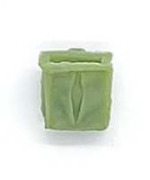 "Ammo Pouch: Empty LIGHT GREEN Version - 1:18 Scale Modular MTF Accessory for 3-3/4"" Action Figures"