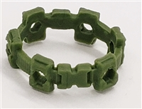 "Web Belt: LIGHT GREEN Version - 1:18 Scale Modular MTF Accessory for 3-3/4"" Action Figures"