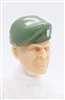"Headgear: Beret LIGHT GREEN Version - 1:18 Scale Modular MTF Accessory for 3-3/4"" Action Figures"