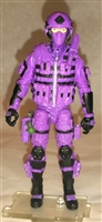 "DELUXE MTF Male Trooper PURPLE ""Engineer-Ops"" Version - 1:18 Scale Marauder Task Force Action Figure"