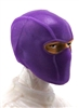"Male Head: Balaclava Mask PURPLE Version - 1:18 Scale MTF Accessory for 3-3/4"" Action Figures"
