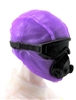 "Male Head: Mask with Goggles & Breather PURPLE & Black Version - 1:18 Scale MTF Accessory for 3-3/4"" Action Figures"