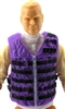 "Male Vest: Tactical Type PURPLE & Black Version - 1:18 Scale Modular MTF Accessory for 3-3/4"" Action Figures"