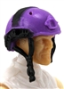 "Headgear: Half-Shell Helmet PURPLE & Black Version - 1:18 Scale Modular MTF Accessory for 3-3/4"" Action Figures"