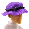 "Headgear: Boonie Hat PURPLE & Black Version - 1:18 Scale Modular MTF Accessory for 3-3/4"" Action Figures"