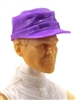 "Headgear: Fatigue Cap PURPLE Version - 1:18 Scale Modular MTF Accessory for 3-3/4"" Action Figures"