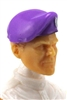 "Headgear: Beret PURPLE & Black Version - 1:18 Scale Modular MTF Accessory for 3-3/4"" Action Figures"