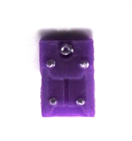 "Armor Panel: Large Size PURPLE Version - 1:18 Scale Modular MTF Accessory for 3-3/4"" Action Figures"