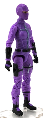 "MTF Female Valkyries with Balaclava Head PURPLE with BLACK ""Engineer-Ops"" Version BASIC - 1:18 Scale Marauder Task Force Action Figure"